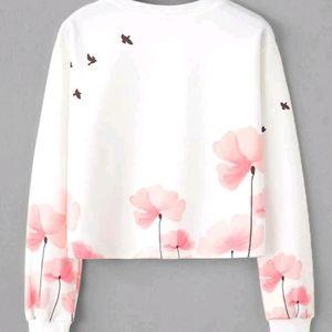 Floral print longsleeve sweatshirt